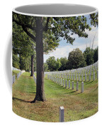 Seeing The Air Force Memorial From Arlington National Cemetery Coffee Mug