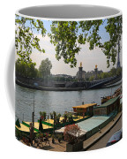 Seine Barges In Paris In Spring Coffee Mug