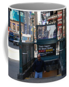 Self At Subway Stairs Coffee Mug by Rob Hans