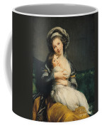 Self Portrait In A Turban With Her Child Coffee Mug
