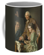 Self-portrait With His Wife Marie-suzanne Giroust Coffee Mug