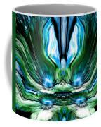 Self Reflection - Blue Green Coffee Mug