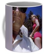 Selfie With Pink Bikini Girl Coffee Mug