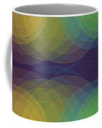 Semi Circle Background Horizontal Coffee Mug