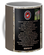 Semper Fi To The 1st Man Down In Iraqi Freedom Plaque Coffee Mug