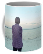Senior Woman On The Beach  Coffee Mug