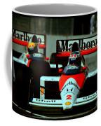 Senna Chasing Prost ... Coffee Mug