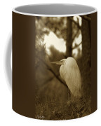 Sepia Egret  Coffee Mug