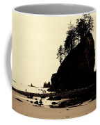 Sepia High Contrast Rialto Beach Coffee Mug