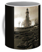 Sepia Marblehead Lighthouse Coffee Mug