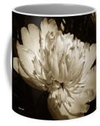 Sepia Peony Flower Art Coffee Mug