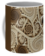Sepia Swirls Fractal Art Coffee Mug
