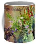 September Birthday Aster Coffee Mug