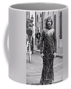 Sequined Mime In Black And White Coffee Mug
