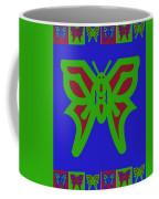 Serendipity Butterflies Blueredgreen 6of15 Coffee Mug