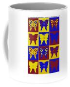Serendipity Butterflies Brickgoldblue 1 Coffee Mug