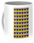 Serendipity Butterflies Brickgoldblue 27 Coffee Mug
