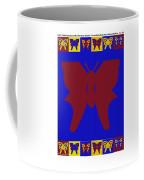 Serendipity Butterflies Brickgoldblue 7 Coffee Mug