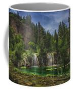 Serene Hanging Lake Waterfalls Coffee Mug
