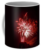 Series Of Red And White Fireworks Coffee Mug