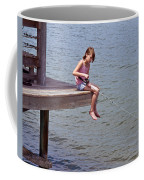 Serious Fishergirl On The Indian River In Florida Coffee Mug