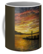 Sesuit Harbor At Sunset Coffee Mug by Jack Skinner