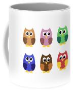 Set Of Six Little Owlets Coffee Mug