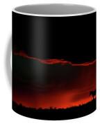Set Sun Silhouetting Horse On Saskatchewan Ridge Coffee Mug