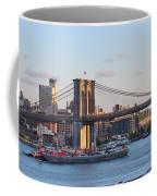 Setting Sun On Brooklyn Bridge Coffee Mug