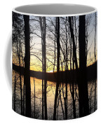 Setting Sun On Monroe Lake Bloomington Indiana Coffee Mug