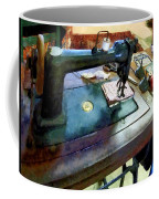 Sewing Machine With Sissors Coffee Mug
