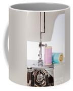 Sewing Threads In Pastel Colors And Detailed View Of A Sewing Machine Coffee Mug