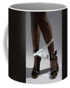 Sexy Legs In Stockings Taking Off Her Panties Coffee Mug