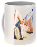 Sexy Woman On Sand Coffee Mug