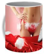 Sexy Woman Preparing For Christmas Holidays Coffee Mug