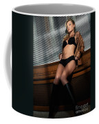 Sexy Young Woman In Lingerie Coffee Mug