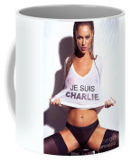 Sexy Young Woman In Wet Je Suis Charlie Shirt Charlie Riina Coffee Mug