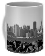 Sf Skyline  Bw Coffee Mug