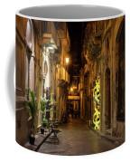 Shabby Chic - Small Street Night Walk In Syracuse Sicily Coffee Mug
