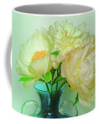 Beautiful Peony Flowers  In Blue Vase. Coffee Mug