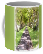 Shaded Walkway To Princeville Market Coffee Mug