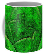 Shades Of Green Stained Glass Coffee Mug