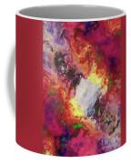 Shades Of Red Abstract Coffee Mug
