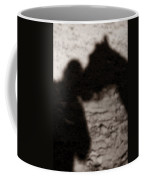 Shadow Of Horse And Girl - Vertical Coffee Mug by Angela Rath