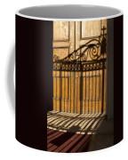 Shadows On A Wood Door Coffee Mug