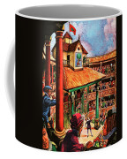 Shakespeare Performing At The Globe Theater Coffee Mug