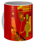 Shapes And Patterns In Red Coffee Mug