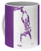 Shaquille O'neal Los Angeles Lakers Pixel Art Coffee Mug