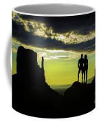 Sharing A Monument Valley Sunrise Coffee Mug