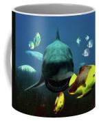 Shark And Fishes Coffee Mug